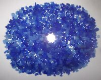 Beach Sea Glass Surf Tumbled Small Blue Lot Over 600 Tinies Pieces