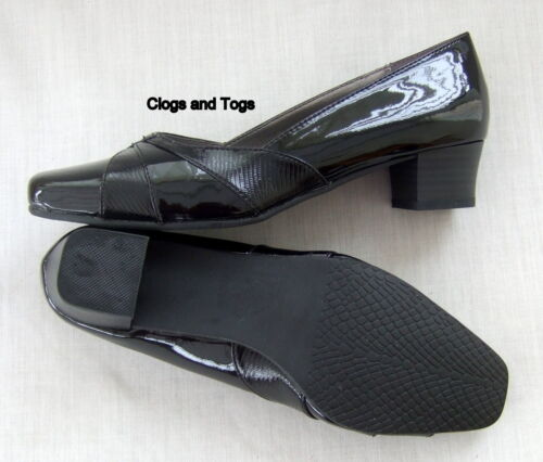 NEW CLARKS K CAMELOT WOMENS BLACK PATENT SHOES