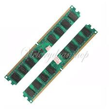 4GB 2X2GB PC2-5300/5300U DDR2-667 MHZ DIMM Memory RAM 240 Pin For AMD PC Desktop