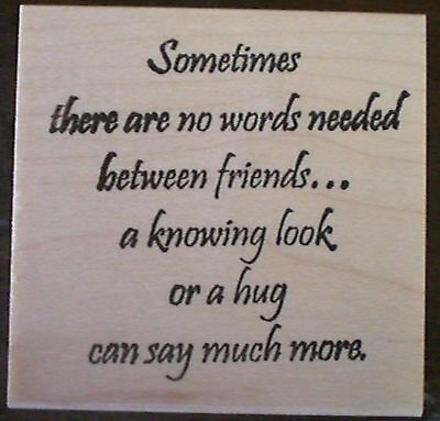 Deep Red Rubber Cling Stamp A Friend is Like Someone Who Knows Your Heart