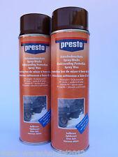 (14,80€/L) 2x 500ml presto® Unterbodenschutz Spray Wachs hellbraun Konservierung