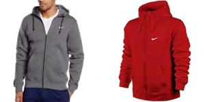 Nike-Men-039-s-Sportswear-Club-Swoosh-Fleece-Full-Zip-Hoodie