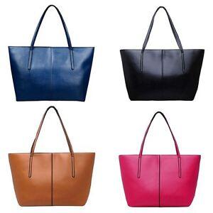 Image Is Loading Large Womens Designer Handbag Faux Leather Beach Bag