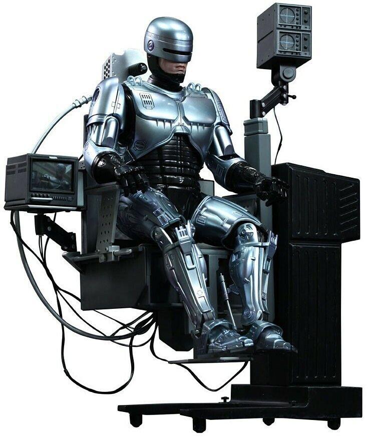 Movie Masterpiece Diecast Robocop Figura De Colección [versión silla mecánica]