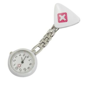 1X-Weiss-Design-Brosche-Krankenschwesteruhr-mit-arabischen-Ziffern-Fuer-D9C6