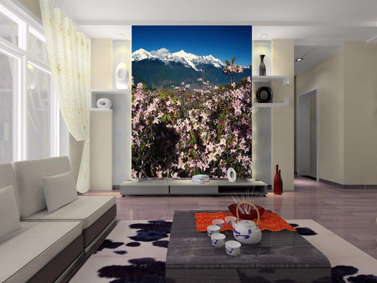 3D Rosa Blüten Schnee Berg 97 Tapete Wandgemälde Tapete Tapeten Bild Familie DE | Jeder beschriebene Artikel ist verfügbar  | Roman  | Trendy