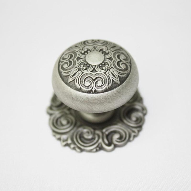 10 pcs Antique Pewter 30mm Knobs Wardrobe Door Cabinet Drawer Handles KE-6577