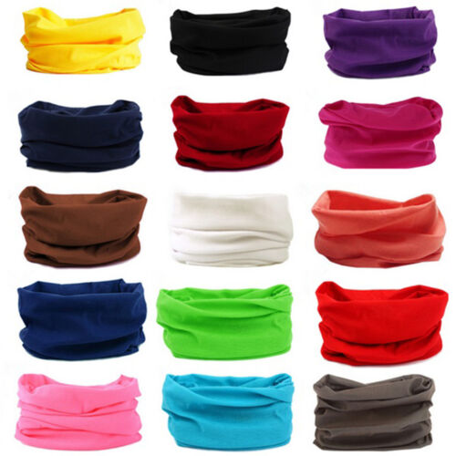 5 Pack of Multi-functional Seamless Stretch Fit Bandana Headscarf