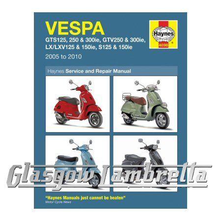 vespa gts 300 ie super abs 2014 haynes service repair manual 4898 ebay rh ebay co uk
