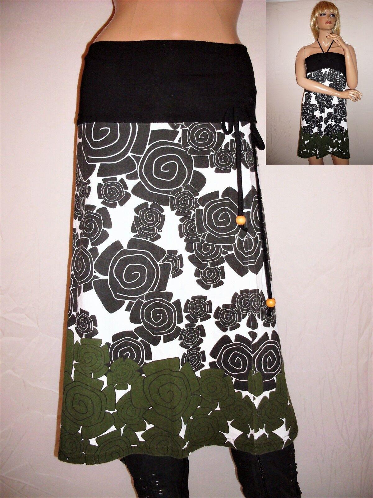 Maxi Skirt Or Bandeau Dress, Size S + M + L, Retro Flowers, Vintage, Ethnic, Boho, Hippie,