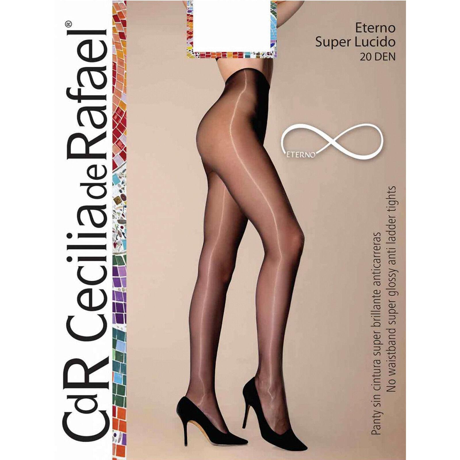 91dcf183e8c Cecilia de Rafael Eterno Super Lucido Ultra Glossy Shiny Tights Pantyhose  NEW!