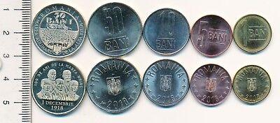 full set of 5 vintage coins Romania C026 1966 15 25 Bani 1 Leu 3 Lei 5
