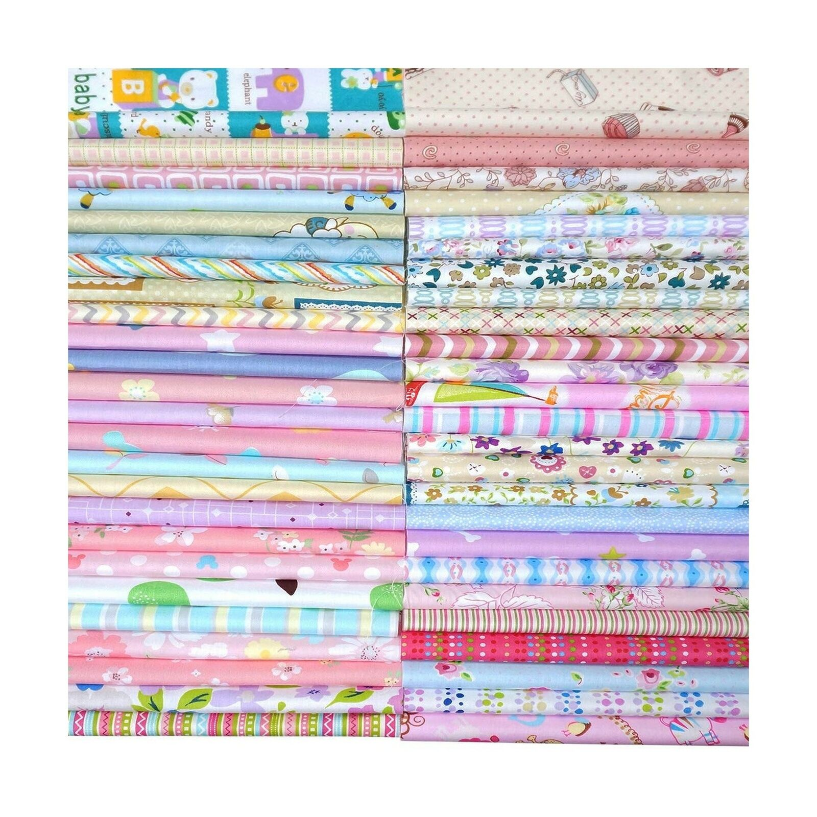 Misscrafts Cotton Fabric Squares Precut Quilting Charm Pack