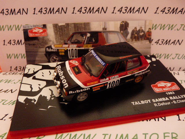 RMC7M 1 43 IXO altaya Rallye Monte Carlo   TALBOT SAMBA RALLYE 1983 Defour