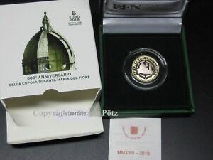 Vatican-2018-Commemorative-Coin-IN-Pp-Dome-From-Santa-Maria-Del-Fiore