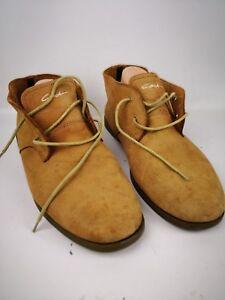 Men-039-s-Circa-Suede-Lace-up-Shoes-Sz-10-M-Leather-Up-Rubber-sole-LUX07-12-Sah-Cam
