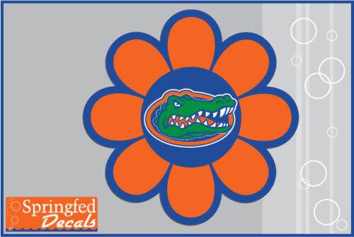 Florida Gators GATOR HEAD FLOWER #1 Vinyl Decal UF Baseball Sticker for Anything