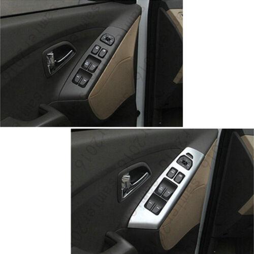 Chrome ABS Door Window Armrest Panel Cover Trim For Hyundai Tucson ix35 2010-14