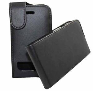 Flip-Tasche-fuer-BlackBerry-9900-Bold-in-schwarzer-Lederoptik-Etui-Huelle-Case-Bag