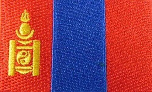 Mongolei Aufnäher gestickt,Flagge Fahne,Patch,Aufbügler,6,5cm,neu