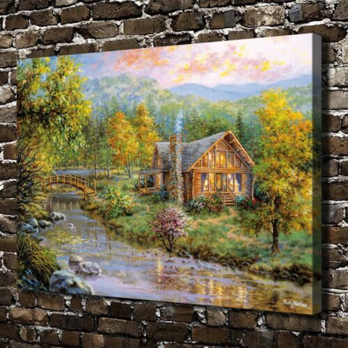 "18/""x24/"" Beautiful countryside Paintings HD Canvas Print Home Decor Wall Picture"