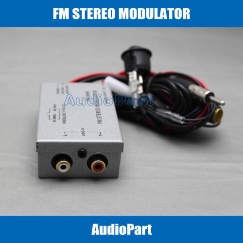 APS CA SHIPPING Factory Radio Stereo FM Modulator RCA AUX Input Audio Converter