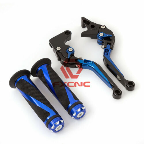 For Yamaha MT07//FZ07 2014-2018 CNC Foldable Extendable Clutch Brake Levers+Grips