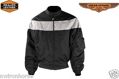 MEN'S MOTORCYCLE JACKET WITH REFLECTORS BEST SALE EVER SIZES SM - 3XL NEW MCD5