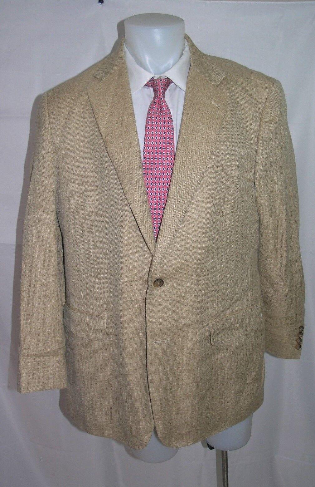 Brooks Bredhers 1818 Madison Silk Linen Two Button Blazer 45 L