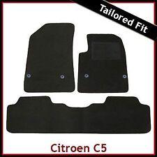 Citroen C5 Mk2 2008 onwards Fully Tailored Fitted Carpet Car Floor Mats BLACK