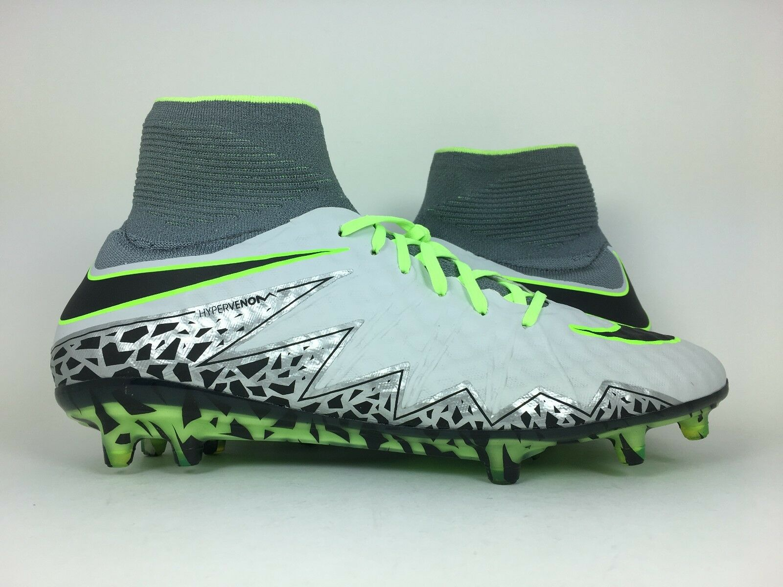 Nike Cleat Hypervenom Phantom II 2 FG Soccer Cleat Nike Wolf Grey Volt (747213-003) sz 7 19da41