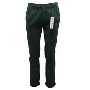 f54e08056a Details about 6662Q pantalone uomo GREY DANIELE ALESSANDRINI verde trousers  men
