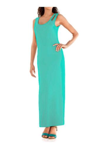 Kleid Maxi Kleid Heine blau jade Jersey Cut Outs Viskose Gr 40 42