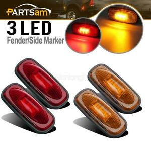 4pcs-For-03-09-DODGE-RAM-3500-LED-Front-Rear-Dually-Bed-Side-Fender-Marker-Light