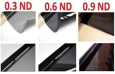 "3 X Neutral Density Lighting Filter Gel Sheets 21"" x 48"" 0.3ND 0.6ND 0.9ND"