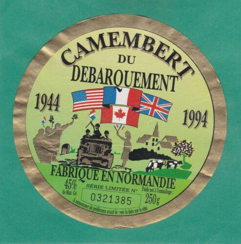 F758  CAMEMBERT  DEBARQUEMENT 1944-1994 NORMANDIE DRAPEAUX FRANCE USA UK CANADA