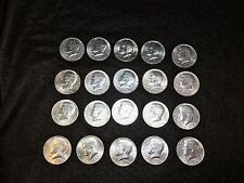 5 rolls of 20 1976 Bicentennial Kennedy Half Dollar Clad-Lot of 100 VF to AU.
