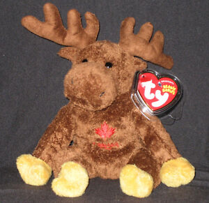 TY VILLAGER the MOOSE BEANIE BABY - CANADA EXCLUSIVE - MINT with MINT TAG