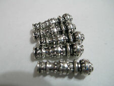 5pcs Tibetan silver vase Spacer Beads Findings , imam, master beads for rosary