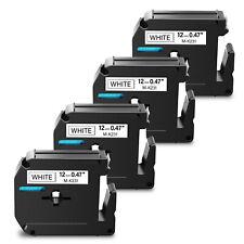 4pk For Brother P Touch Pt 65 Pt85 Label Tape M K231 Mk231 M 231 Black On White