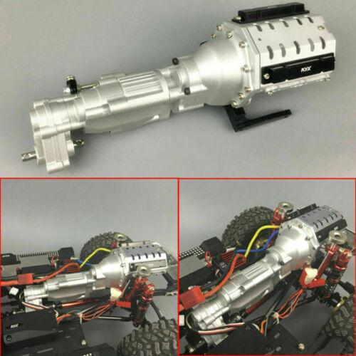 Two Speed V8 Engine Getriebe Gearbox für Axial SCX10 II AX90046 RC Modell Neu DT