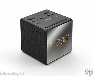 sony icf c1t desktop alarm clock am fm radio black automatic set up new 27242758131 ebay. Black Bedroom Furniture Sets. Home Design Ideas