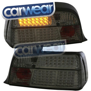 SMOKE LED TAIL LIGHT BMW E36 2DR 318is 325i 328i M3 COUPE ...