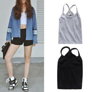 Women-Elastic-Summer-Vest-Crop-Top-Sleeveless-Shirt-Blouse-Tank-Tops-T-Shirt