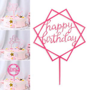 Gold-Pink-Acrylic-034-One-034-034-Oh-Baby-034-Cake-Topper-Birthday-Party-Decoration-Cupcakes