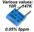 0.05% 5ppm 0.5W Very High Precision Vishay SFERNICE Foil resistor values: 10R ..
