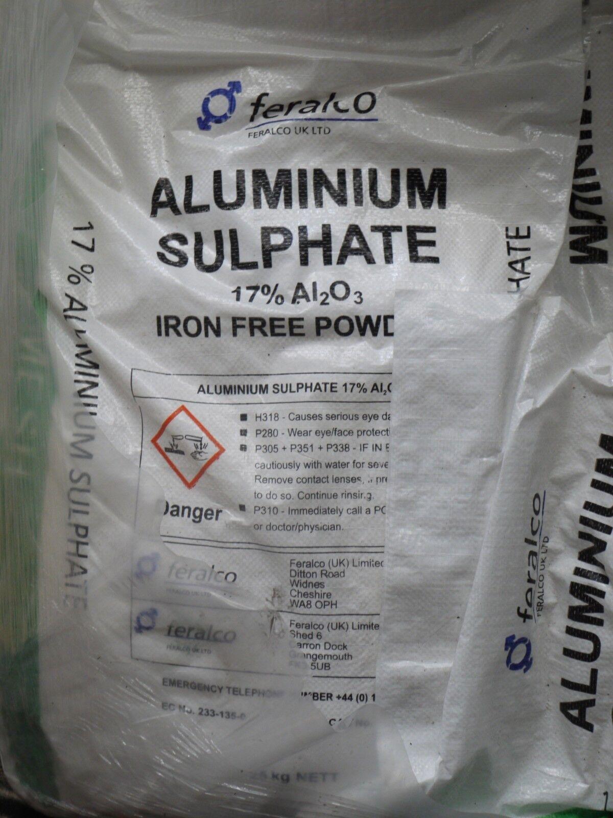 Aluminium Sulfat 17% Pulver - 25kg Beutel Sulfat - Papermaker's Alaun