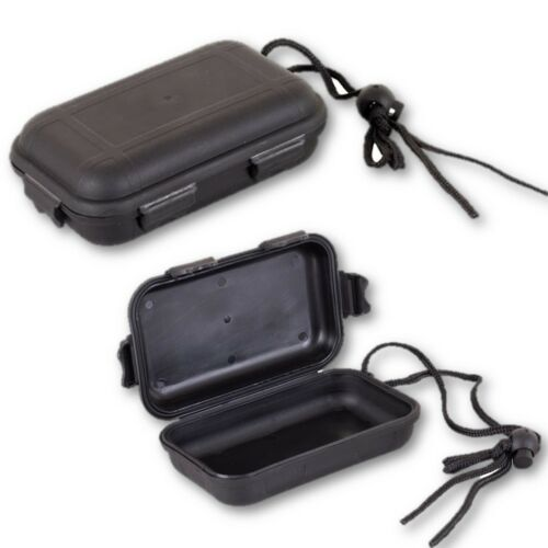 MILITARY WATERPROOF AIR TIGHT SURVIVAL BOX CAMPING ARMY BLACK CONTAINER