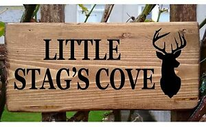 38b5d80e6009d Details about Personalised Wooden Stag House Door Name Plaque Signs Plate  Porch Conservatory