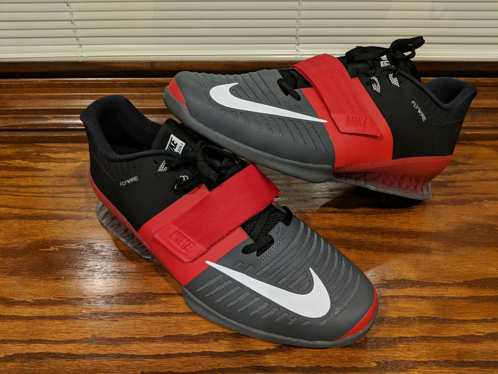 Nike Romaleos 3 Mens Weightlifting CrossFit shoes Red Grey Size 14 852933-600